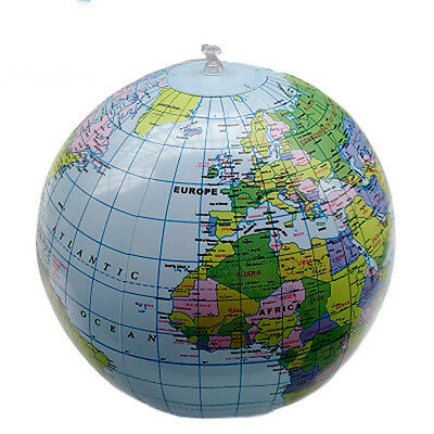 40cm Inflatable World Globe Earth Map Geography Teacher Aid Ball Toy Xmas Gift