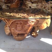 Imported teak root furniture from Bali