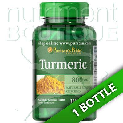Turmeric 800Mg Antioxidant Naturally Contains Curcumin 100 Caps Puritans Pride