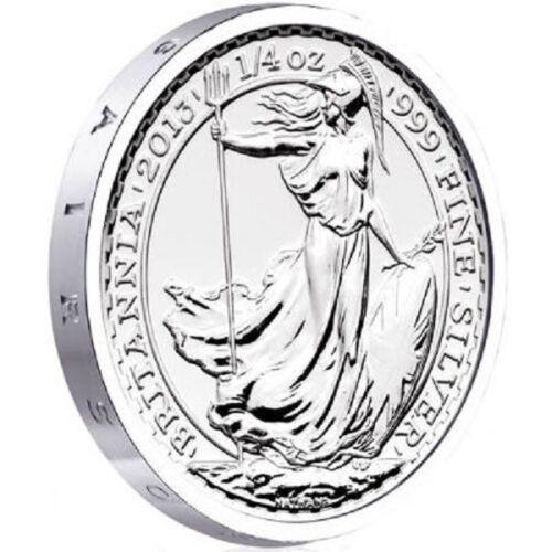 2013 S.S. Gairsoppa Shipwreck British Britannia 1/4 oz .999 Silver BU Coin