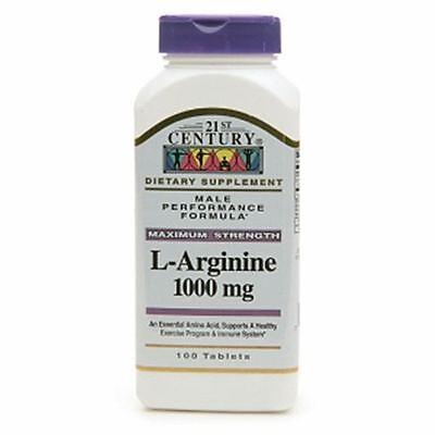 21St Century L Arginine 1000Mg  Maximum Strength 100 Ea