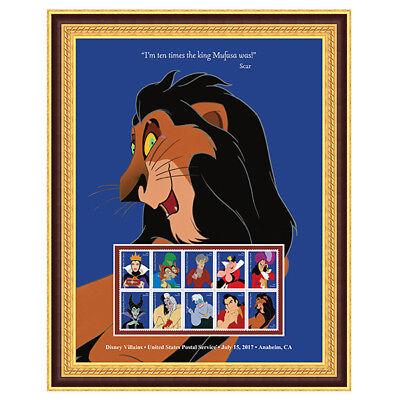 USPS New Disney Villains Scar Framed Art