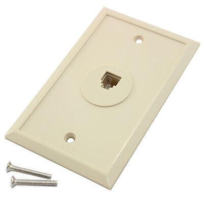 Eagle Telephone Wall Plate Jack Ivory 10 Pack RJ11 Modular 6P4C 4 Cond Phone  Jack Wall Plate