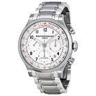 Baume and Mercier Capeland White Dial Chronograph Mens Watch