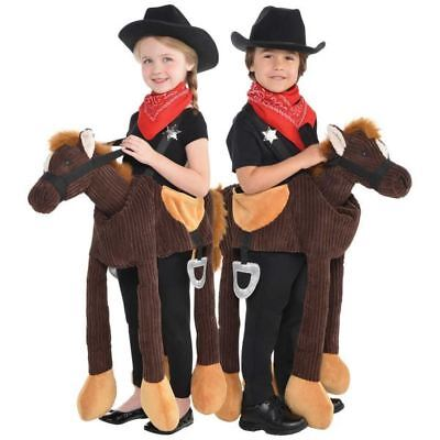 Childs Ride on Horse Pony Costume Boys Girls Animal Fancy Dress Book Day