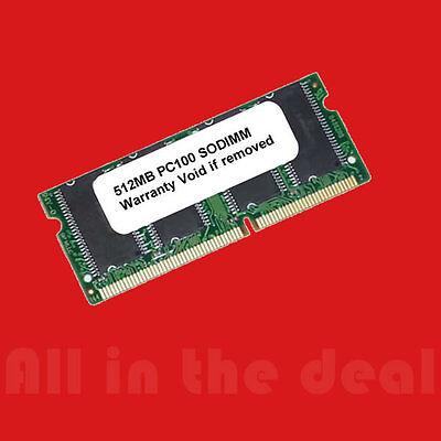 512MB PC100 SDRAM 100MHZ MAJOR SODIMM LOW DENSITY Laptop memory 100 Mhz Pc