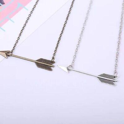 Women Fashion Jewelry Bronze Retro Arrow Head Pendant Long Chain Necklace New