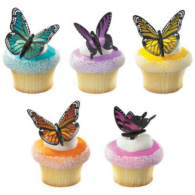 Butterfly Cupcake Toppers (Cake Toppers Butterfly Beauty Cupcake Picks One)