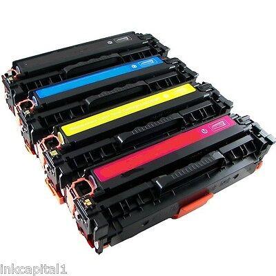 4 x hp couleur laser jet toners pour imprimante hp cp1515n, cp 1515n - 125a