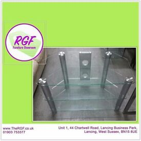 SALE NOW ON!! Glass TV Stand - Can Deliver For £19