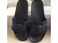 Versace Black Slides UK Size 5.5