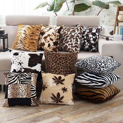 Faux Fur Pillow Cover - New Leopard Pattern Faux Fur Decorative Sofa Throw Pillow Cover Cushion Case