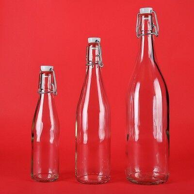asche 100/250/500/750ml 1Liter Wein-Flasche Bügelverschluss (Bügelflaschen)