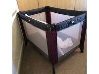 Travel cot plus mattress