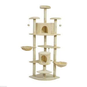 """78"""" Cat Tree House Condo Post Play Toy Tower Kitten Furniture"""