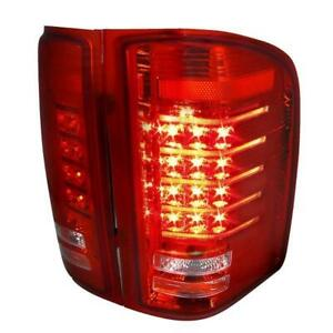 2007-2012 CHEVROLET SILVERADO Led Tail Lights Red Lens