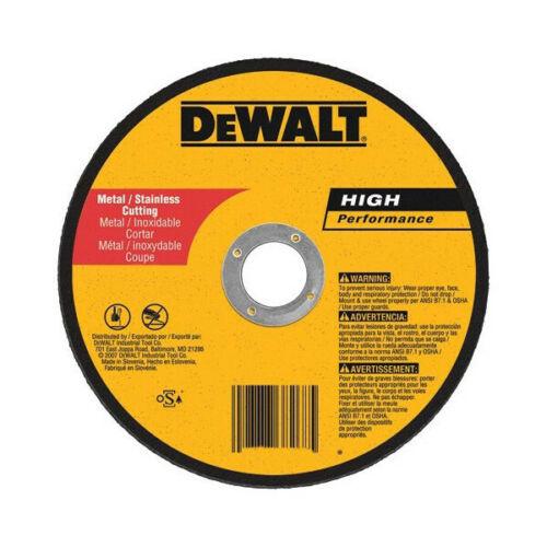 "DEWALT 6"" TYPE 1 HP METAL CUTTING WHEEL (DW8725)"
