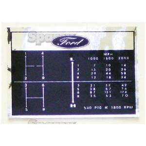 Ford-Tractor-Shift-Pattern-Decal-6-Speed-2000-3000-2110-231-2600-335-3400-3600
