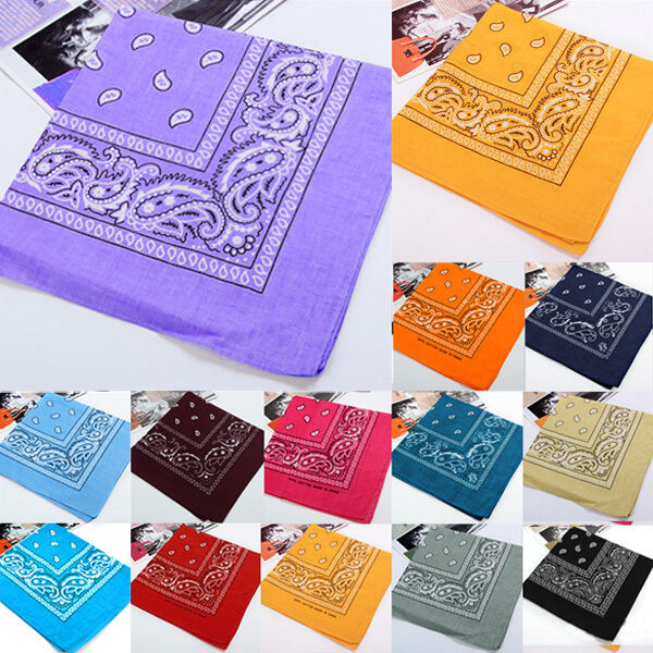 Wholesale Women Men Kerchief Paisley Bandana Cotton Soft Nec