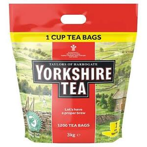 Taylors of Harrogate Yorkshire Tea 1200 Tea Bags 3kg **CHEAPEST**