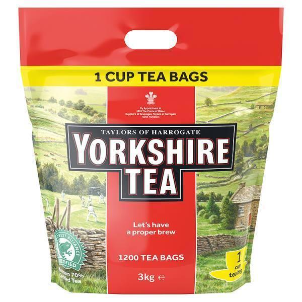 Taylors of Harrogate Yorkshire Tea 1200 Tea Bags 3kg **CHEAPEST**