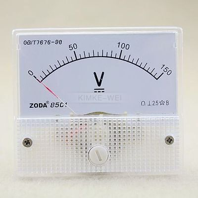 Dc 0-150v Analog Volt Voltage Panel Meter Voltmeter Gauge