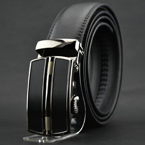 Fashion-Mens-Automatic-buckle-Belt-Business-Genuine-Leather-Belt-For-Men-Jeans