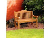 Heavy Duty Teak Garden Patio Bench (FREE LOCAL DELIVERY)