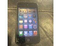 iPod touch 4th Gen 32GB cracked screen