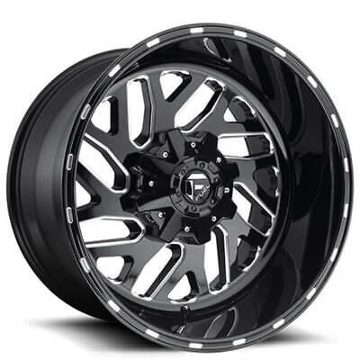 "(4) 18"" Fuel Wheels D581 Triton Black Milled Off Road Rims (B46)"
