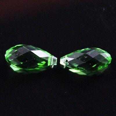 4pcs 10X20mm Swarovski Teardrop  crystal bead C Grass green