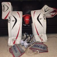 "RBK 6K JR Goalie Pads (29"")/Blocker/Glove Set - Atom-PeeWee"