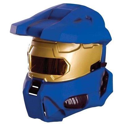 Herren Adult Licensed Halo 3 Blau Spartaner 1/2 Kostüm Vacuform Maske ()