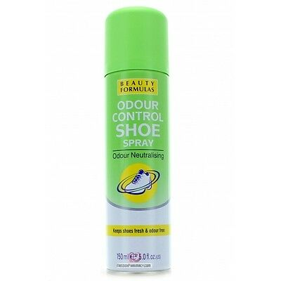 Beauty Formulas Odour Control SHOE Spray Fresh & Odour Free 150ml Anti-Fungal  - Free Anti Odor Spray