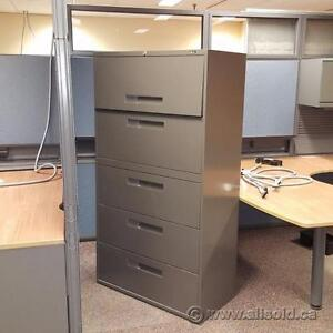 Assortment of Quality 5 Drawer Lateral File Cabinets $325-$420