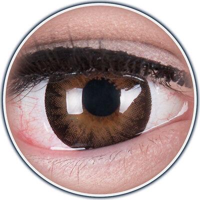 Farbige braune Big Eyes Kontaktlinsen mit Stärke Dark Hazel Circle Lens Puppe