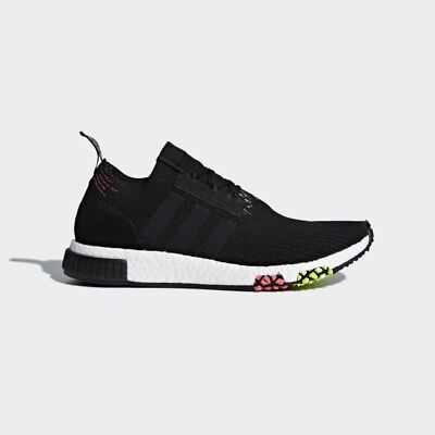 Adidas NMD Racer PK Primeknit Core Black White Boost Runner CQ2441 Size 13 NEW