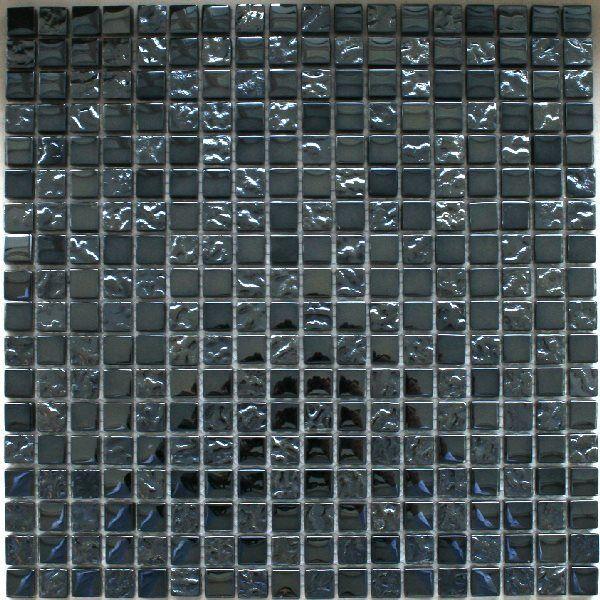 muster glasmosaik fliesen schwarz metall getrommelt eur 1 90 picclick de. Black Bedroom Furniture Sets. Home Design Ideas