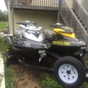 2009 Seadoo RXP and 2007 Sea doo RXT with double trailer