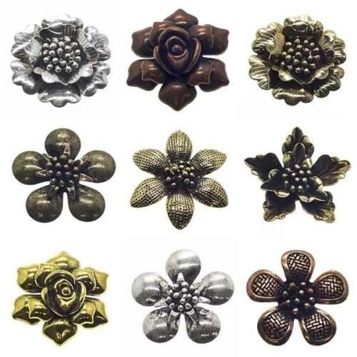 Metal Charms Links Pendants Filigree Jewellery Flower//Round//Oval//Square//Teardrop