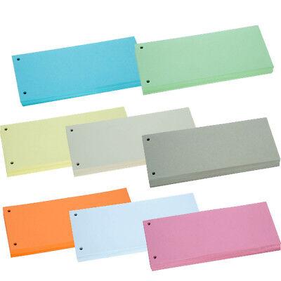 100 Trennstreifen Karton 10,5x24cm, Trennblätter, Farbe frei wählbar NEU&OVP