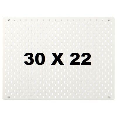 New Ikea Skadis White Pegboard 30x22 Wall Organizer Tool Storage Skdis