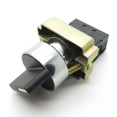 22mm Round Rotary Selector Switch On-off 2 Positions Nc Latching Xb2 10a 600v