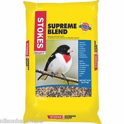 3 Pack Stokes Select Supreme Mixed Seed Blend Bird Food Seed 14# Bag 9270