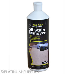 Drive alive oil grease stain remover tarmac concrete for Cleaning oil off cement