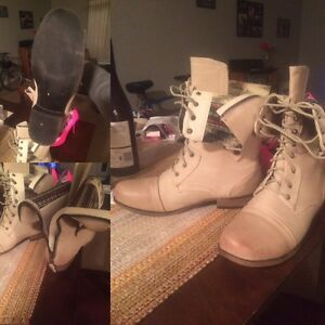 Off white combat boots never worn