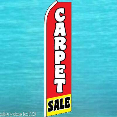 Carpet Sale Flutter Flag Flooring Advertising Sign Feather Swooper Banner 1793