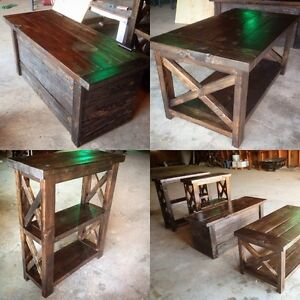 Barnwood living room set. (Sold. Can be ordered)