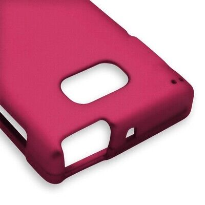 Rose Pink Case For NEC Terrain Z3446 Hard Rubberized Snap On Phone Cover