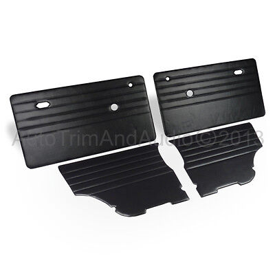 Classic Mini Door Cards (Monte-Carlo) - Black Vinyl/Black Stitching